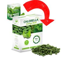 Chlorella Ginkgo Fresh 250g, tablety